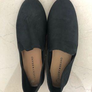 Lucky brand black 8.5 slip on shoes